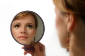 mirror and woman